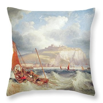 Dover Throw Pillow by John Wilson Carmichael