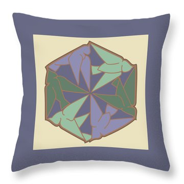 Doves Logo Color Throw Pillow