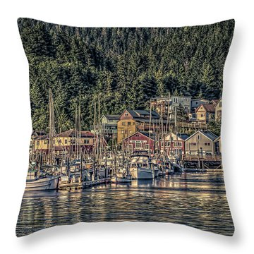Down At The Basin Throw Pillow