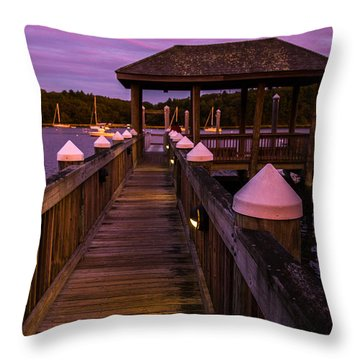 Down At The Dock Throw Pillow