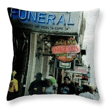 Down At The French Quarter Throw Pillow by Saad Hasnain