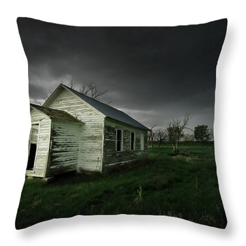 Down At The Schoolyard Throw Pillow