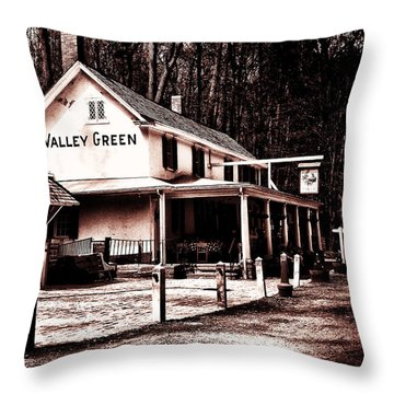 Down At Valley Green Throw Pillow by Bill Cannon