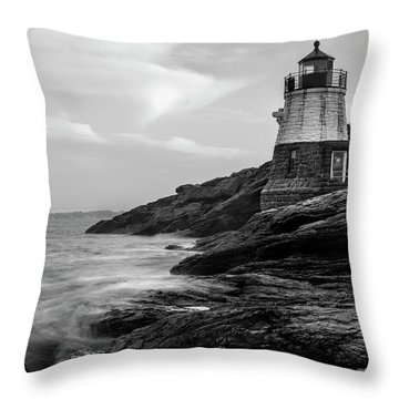 Throw Pillow featuring the photograph Down Below Castle Hill Light by Andrew Pacheco
