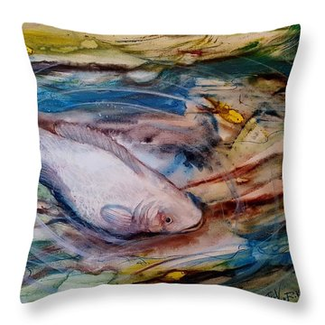 Down Below Throw Pillow