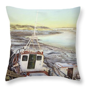 Down By The Docks Throw Pillow by Marty Garland