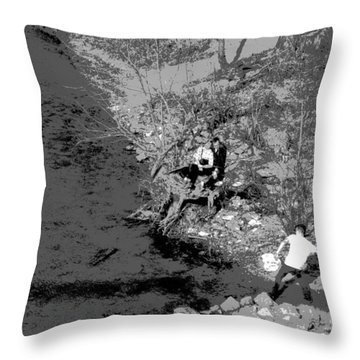Down By The Old Mill Stream Throw Pillow