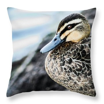 Down By The Shore  Throw Pillow
