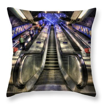 Down From A Cloud. Up From The Underground. Throw Pillow by Evelina Kremsdorf
