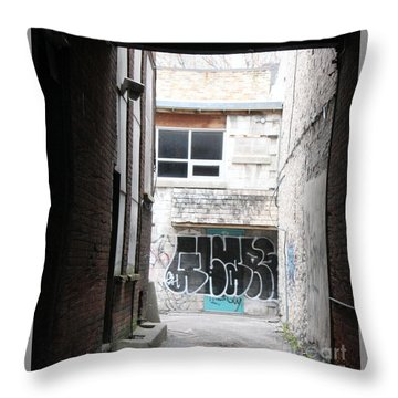 Down In The Alley Throw Pillow
