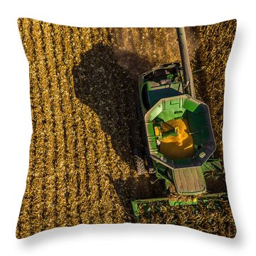 Down On The Combine Throw Pillow