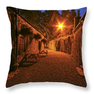 Down The Alley Throw Pillow