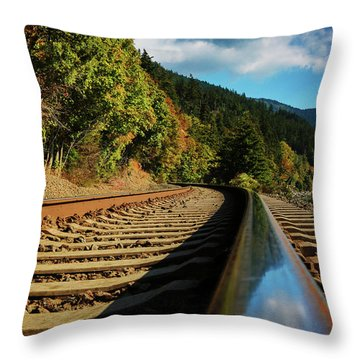 Down The Chukanut Line Throw Pillow