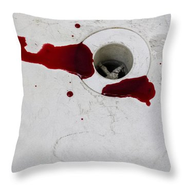 Down The Drain Throw Pillow by Margie Hurwich