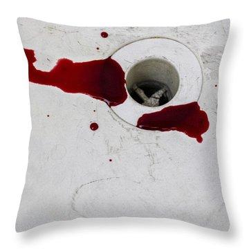 Down The Drain Throw Pillow