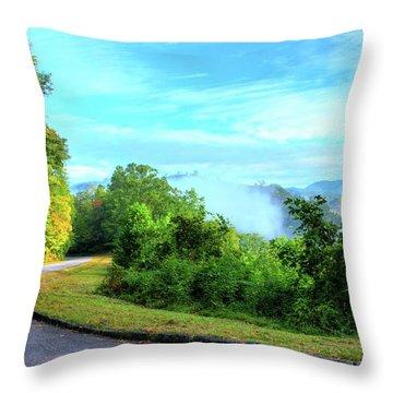 Down The Mountain Throw Pillow