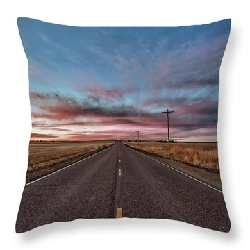 Throw Pillow featuring the photograph Down The Road by Monte Stevens