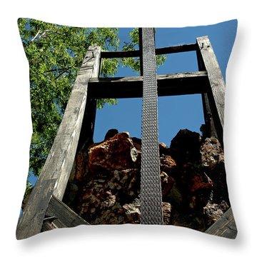Down The Shaft Virginia City Nv Throw Pillow by LeeAnn McLaneGoetz McLaneGoetzStudioLLCcom