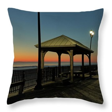 Down The Shore At Dawn Throw Pillow