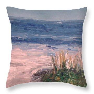 Down The Shore Throw Pillow by Eric  Schiabor