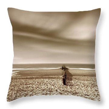 Down The Shore Throw Pillow by Wim Lanclus