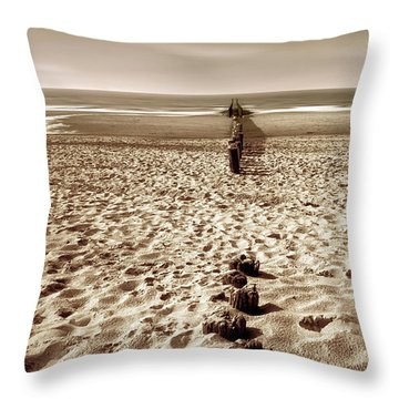 Down The Shore Throw Pillow