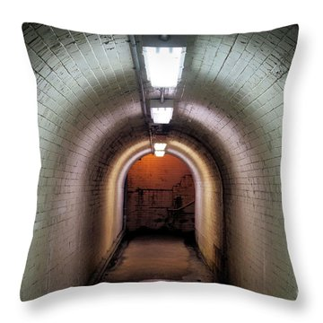 Down The Tunnel Throw Pillow