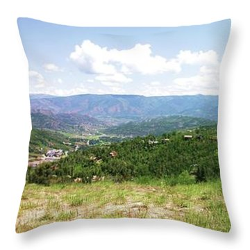 Down The Valley At Snowmass #2 Throw Pillow by Jerry Battle
