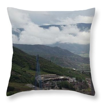 Down The Valley At Snowmass #3 Throw Pillow by Jerry Battle