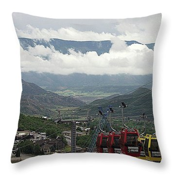 Down The Valley At Snowmass Throw Pillow