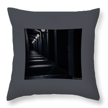 Down The Walkway Throw Pillow
