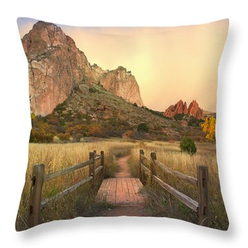 Down This Path Throw Pillow