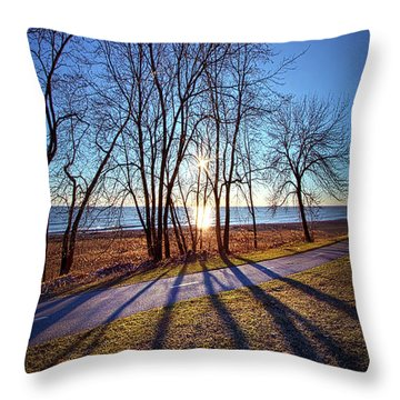 Throw Pillow featuring the photograph Down This Way We Meander by Phil Koch
