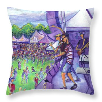 Down2funk At Arise Throw Pillow by David Sockrider