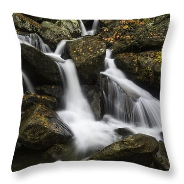 Downhill Flow Throw Pillow