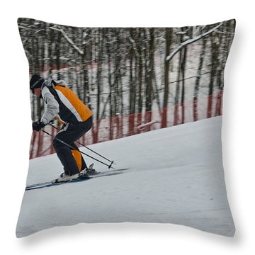 Downhill Throw Pillow
