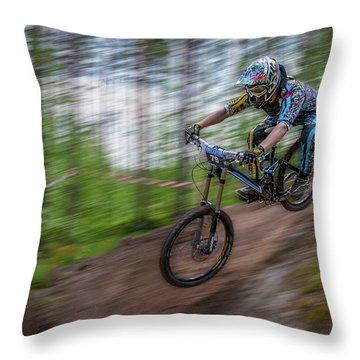 Downhill Race Throw Pillow