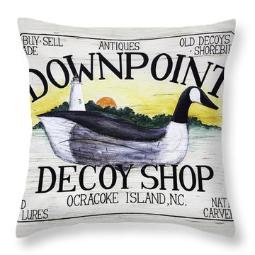 Downpoint Decoy Sign Throw Pillow