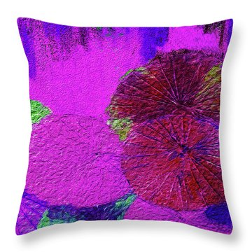 Downpour 4 Throw Pillow by Bruce Iorio