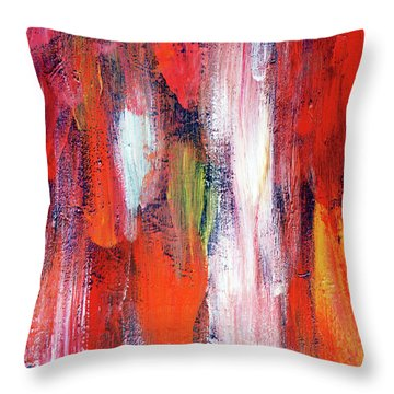 Downpour Of Joy Throw Pillow