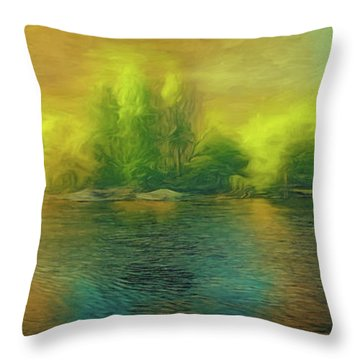Downriver Glow Throw Pillow