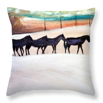 Downs Stables Throw Pillow