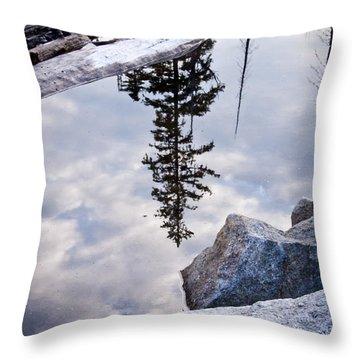 Downside Up Throw Pillow by Albert Seger