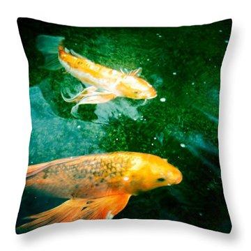 Downstream 1 Throw Pillow