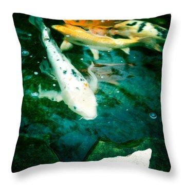 Downstream 2 Throw Pillow
