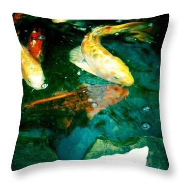 Downstream 3 Throw Pillow