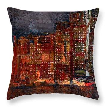 Downtown Throw Pillow by Alex Galkin