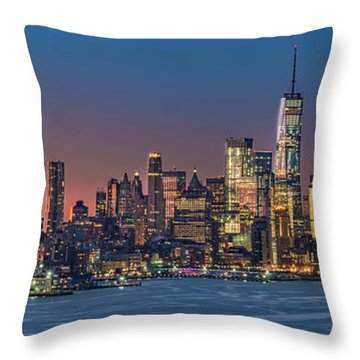 Downtown And Freedom Tower Throw Pillow