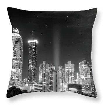 Downtown Atlanta Skyline Throw Pillow