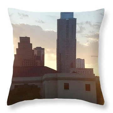 Downtown Austin Throw Pillow